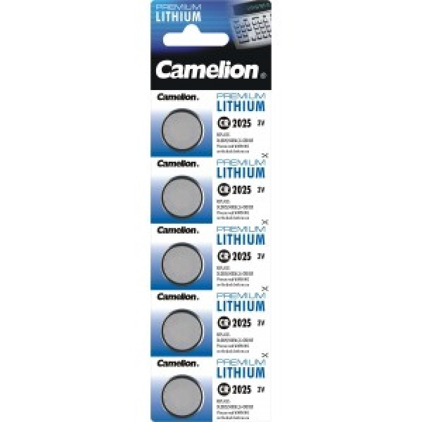 Camelion Lithium CR 2025 3V - 5er Blister-Strip