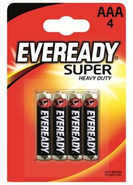 Eveready Super Life R03 1212 AAA Micro 4er Blister