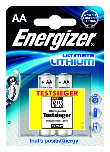 Energizer Ultimate Lithium L91 AA Mignon 2er Blister