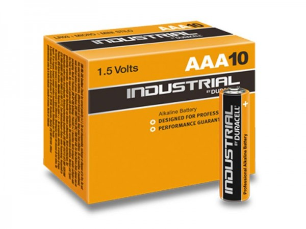 Batterie Duracell INDUSTRIAL MN2400/LR03 Micro AAA (10 St.)