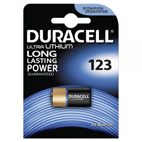 Duracell Lithium Ultra CR123 DL123 - 1er Blister