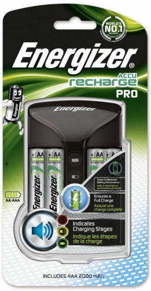 Energizer Pro Charger Ladegerät inkl. 4x AA 2000 mAh ready to Use