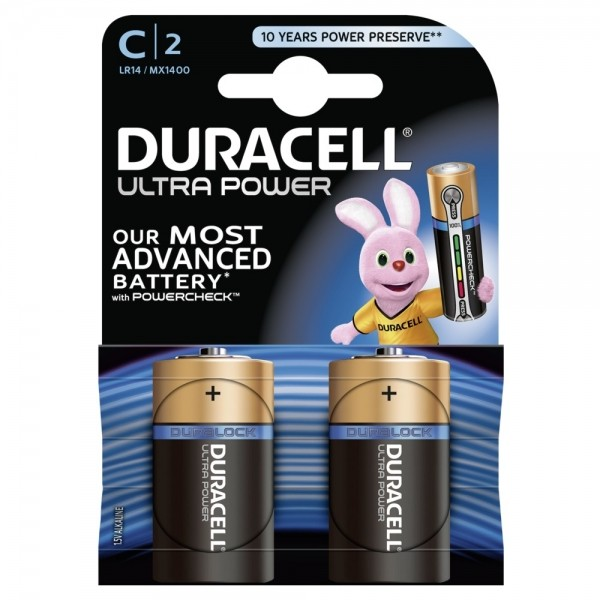 DURACELL Ultra Power MN1400-LR14-C-Baby - 2er Blister
