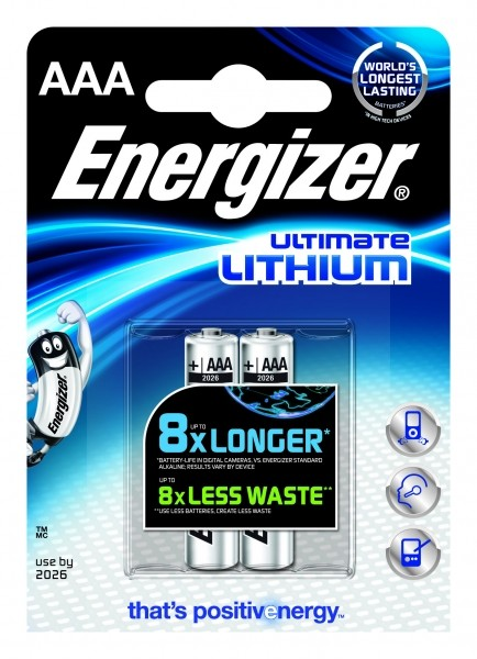 Energizer Ultimate Lithium L92 AAA Micro 2er Blister
