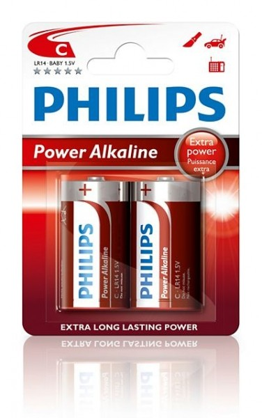 Philips Powerlife Alkaline LR14-C-Baby 2er Blister