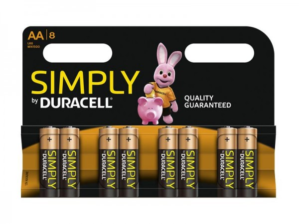Batterie Duracell Simply MN1500/LR6 Mignon AA (8 St.)