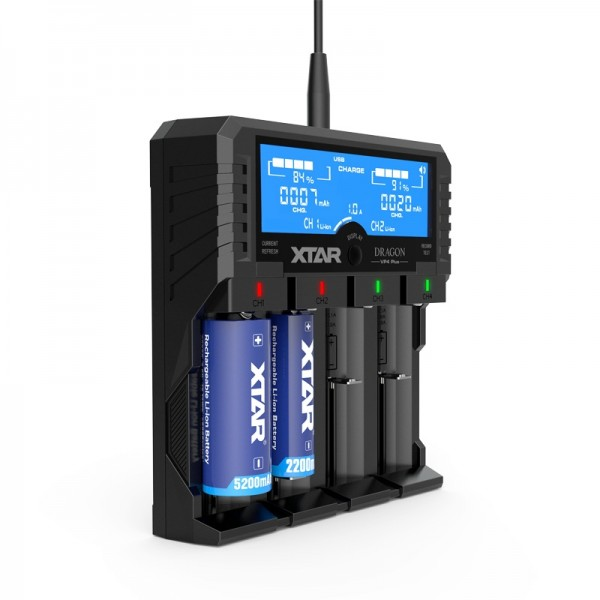 Xtar Smart Charger VP4 DRAGON LCD Display Multichemiecharger
