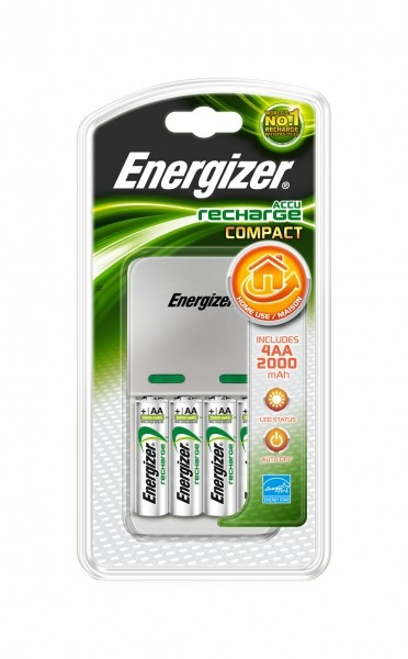 Energizer Charger compact Kit inkl. 4x AA2000 mAh